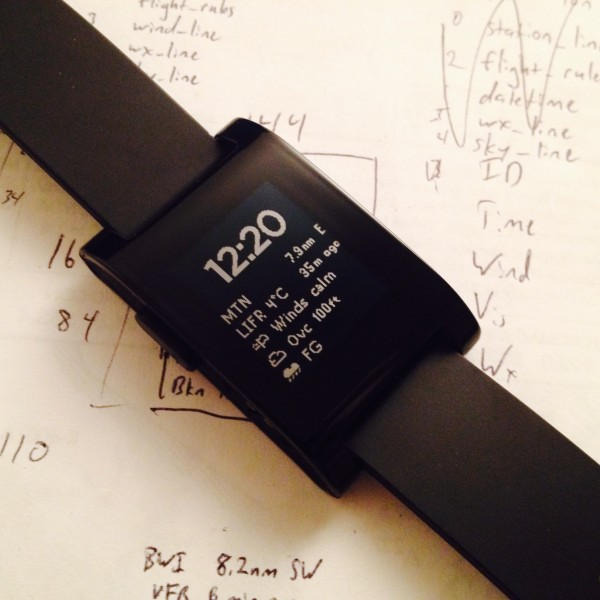 Pebble METAR Watchface