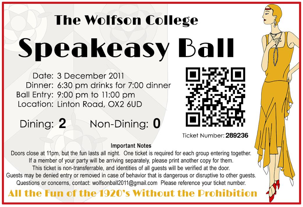 Wolfson Ball 2011 Ticket
